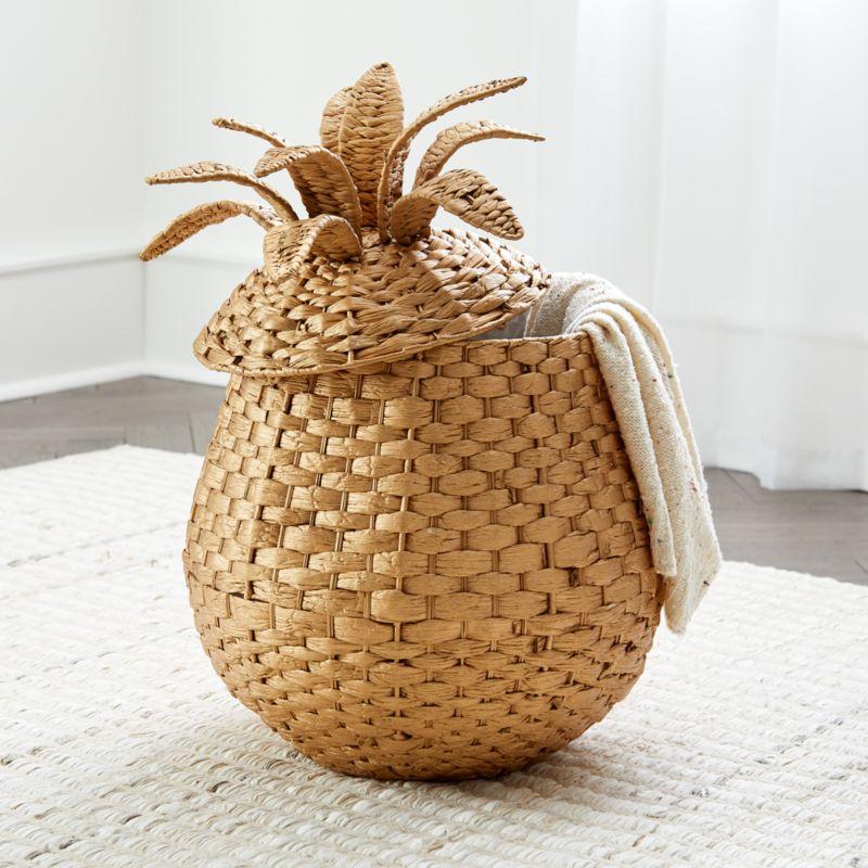 Pineapple Floor Basket  Reviews  Crate and Barrel