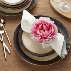 Chair Cushions For Kitchen Chairs Chalk Paint Table And Pink Peony Napkin Ring | Crate Barrel