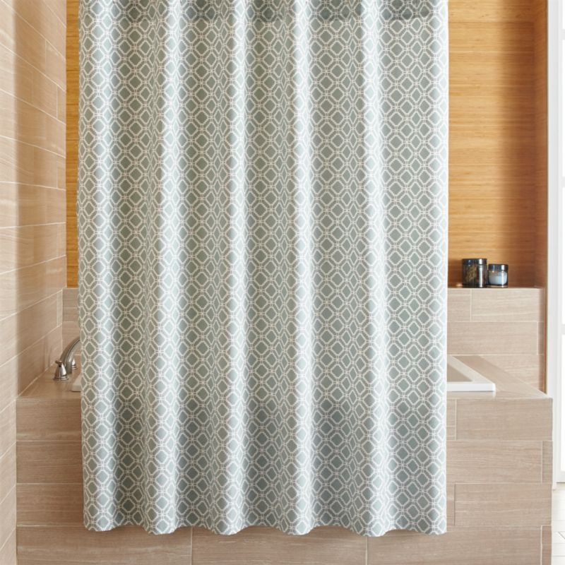 Fabric Shower Curtains Crate And Barrel