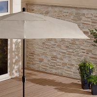Sunbrella  Rectangular Outdoor Umbrella   Crate and Barrel