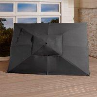 Sunbrella  Rectangular Umbrella Canopy   Crate and Barrel