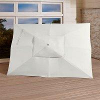 Rectangular Sunbrella  White Sand Umbrella Canopy   Crate ...