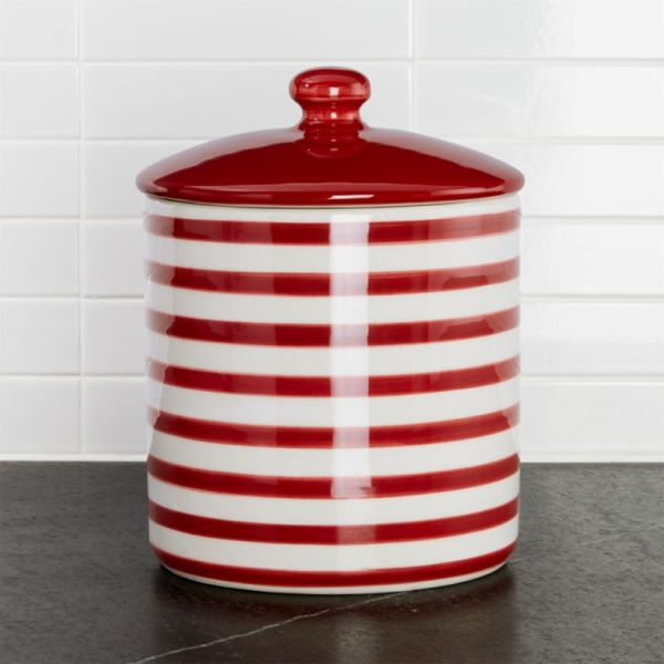 Red and White Christmas Cookie Jars