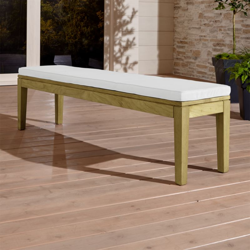 Teak Dining Bench With White Cushion Reviews Crate And