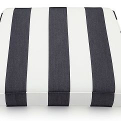 White Lounge Chair Cushions Stokke Harness Regatta Striped Outdoor Cushion Reviews Crate And Barrel