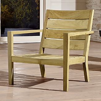 unfinished wooden chairs cheap office chair headrest extension wood crate and barrel regatta natural lounge