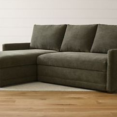 Convertible Sofa Bed Sectional Ebay Corner Sleeper Sofas Twin Full Queen And King Beds Crate Barrel Reston 2 Piece Left Arm Chaise Trundle