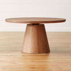 Kitchen Table Round Best New Gadgets Revolve 48 Adjustable Height Dining Reviews Crate And Barrel