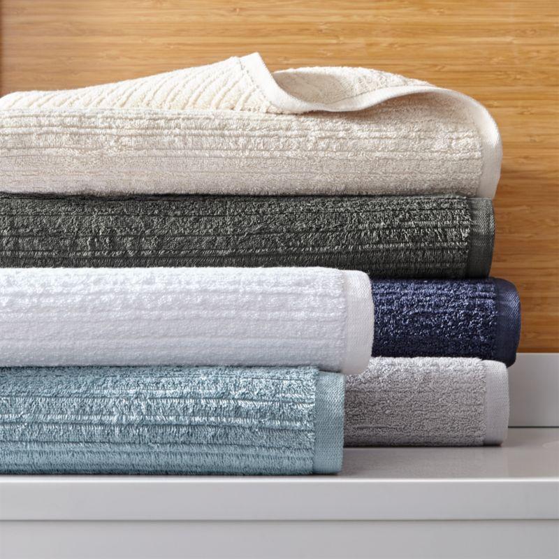 Ribbed Bath Towels  Crate and Barrel
