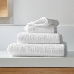 White Leather Computer Chair Rolling Mats For Hardwood Floors Ribbed Bath Towels   Crate And Barrel