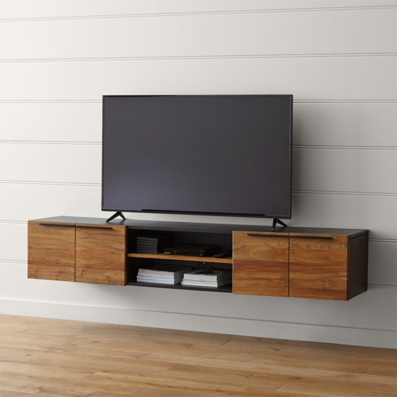 Rigby 805 Large Floating Media Console  Crate and Barrel