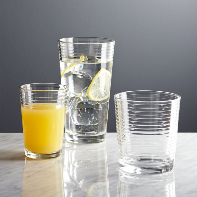 Rings Glass Cups  Crate and Barrel