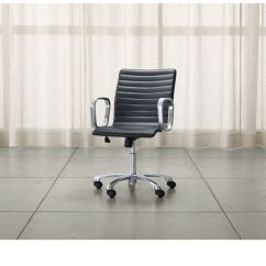 Office Chair Steel Base With Wheels Revolving Manufacturers In Chennai Ripple Black Leather Chrome Reviews Crate Rippleblackofficechairshs15 1x1