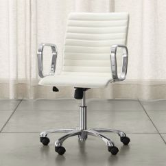 Ivory Leather Office Chair Chairs Best Buy Ripple With Brass Frame Reviews Crate Chrome Base
