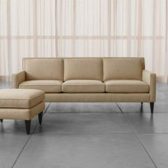 Cb2 Club Leather Sofa Thrive Sofas Living Room Furniture   Crate And Barrel