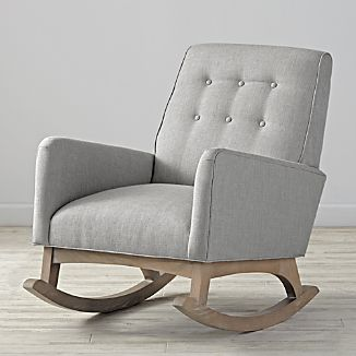 crate and barrel rocking chair swing homestore chairs everly tufted