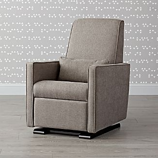crate and barrel rocking chair wooden rifton baby rockers campo gliding recliner