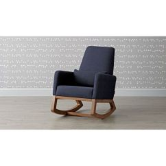 Crate And Barrel Rocking Chair Covers Montreal Joya Navy Reviews Rockingchairjoyanavywalnut 1x1