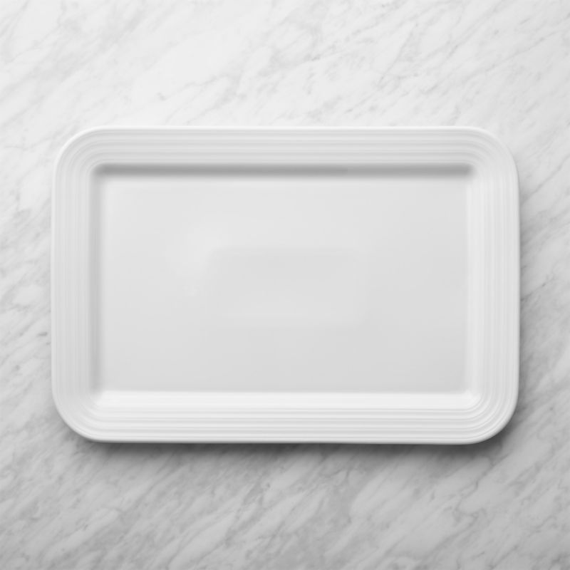 Roulette White Rectangular Serving Platter Crate And Barrel