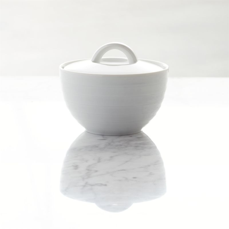 Roulette Sugar Bowl with Lid  Reviews  Crate and Barrel