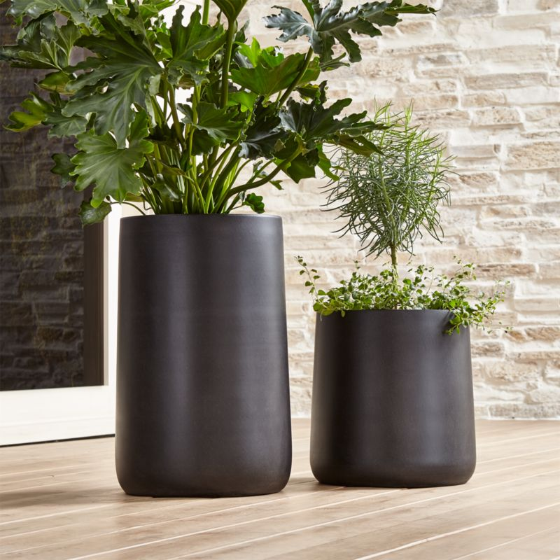 Saabira Fiberstone Planters  Crate and Barrel