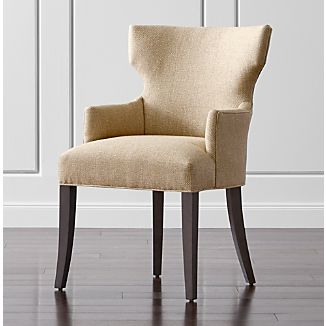 chair with arms covers by sylwia website dining chairs crate and barrel sasha upholstered arm