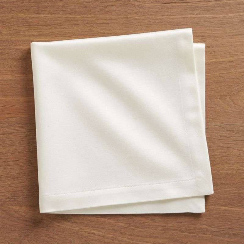 top rated kitchen cabinets outlet sateen ecru cloth dinner napkin   crate and barrel