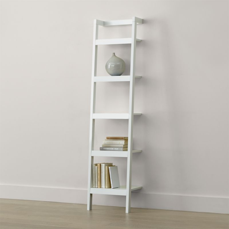 Sawyer White Leaning 18 Bookcase  Reviews  Crate and Barrel