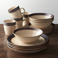 Scavo 16-Piece Dinnerware Set | Crate and Barrel