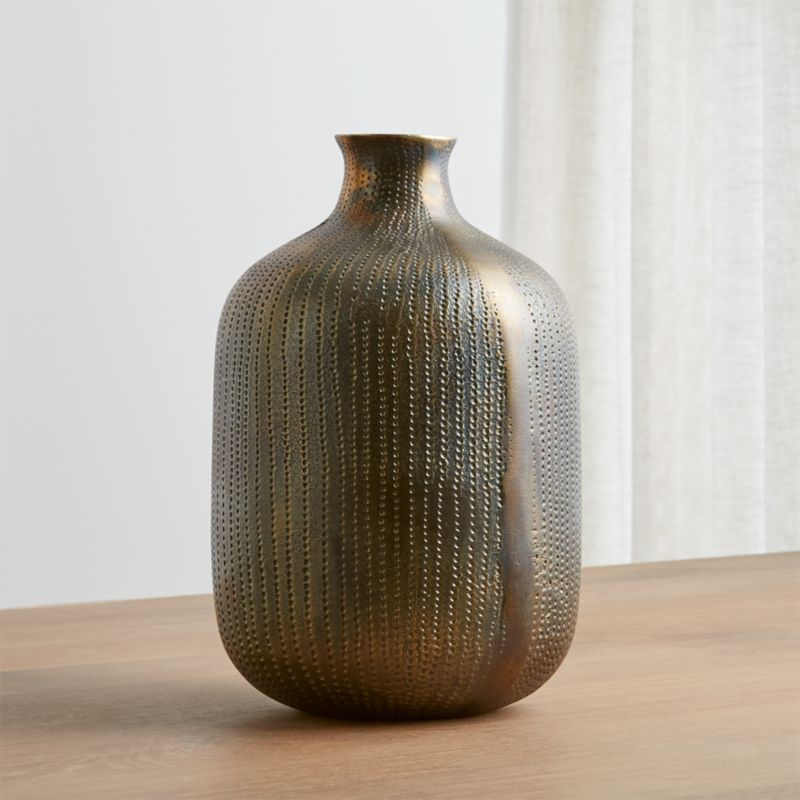 Scout Brass Vase Reviews Crate And Barrel