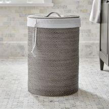 Sedona Grey Hamper With Liner Crate And Barrel