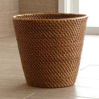 Sedona Honey Tapered Waste Basket/Trash Can | Crate and Barrel