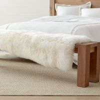 Sheepskin Fur Bed Throw + Reviews | Crate and Barrel