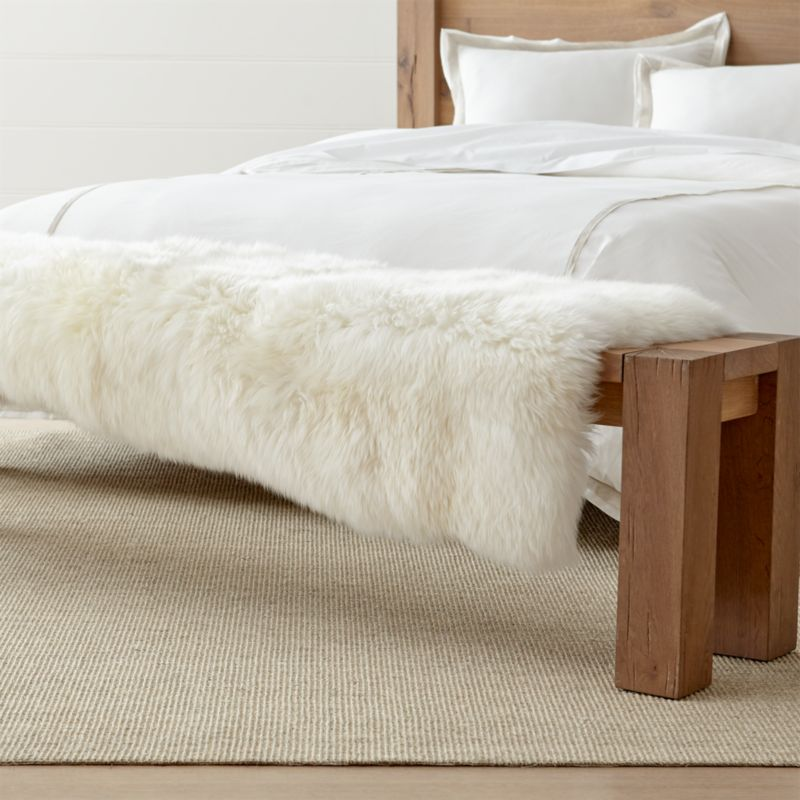Sheepskin Fur Bed Throw Reviews Crate And Barrel