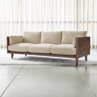 Sherwood 3-Seat Exposed Wood Frame Sofa + Reviews | Crate ...