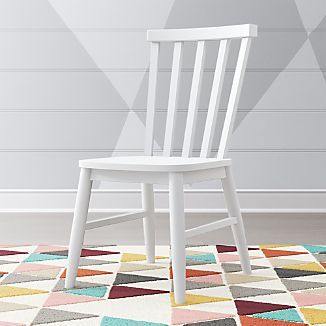wooden white desk chair red chairs for office furniture crate and barrel kids shore