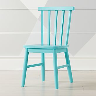 blue green chair white accent with ottoman kids play and activity tables chairs crate barrel shore light