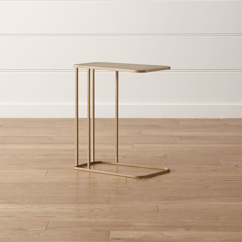steel chair size swivel mechanism siena c table + reviews | crate and barrel