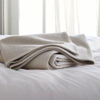 Siesta Grey Full/Queen Blanket + Reviews | Crate and Barrel