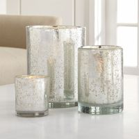 Silver Hurricane Candle Holders | Crate and Barrel