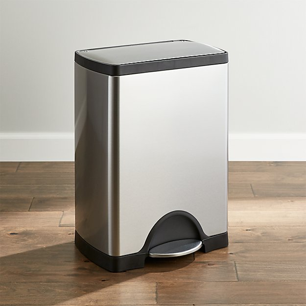 30 gallon kitchen trash can gel mat simplehuman ® 30-liter/8-gallon stainless steel ...