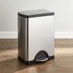 Stainless Steel Kitchen Trash Can Rooster Rug Cans Crate And Barrel
