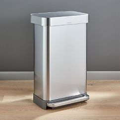 Kitchen Trash 60 Inch Island Cans For Crate And Barrel Simplehuman 45 Liter 12 Gallon Stainless Steel Step Can