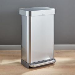 Simplehuman Kitchen Trash Can Crosley Islands 45 Liter 12 Gallon Stainless Steel Step Simplehmnrectstepcan45lshf16