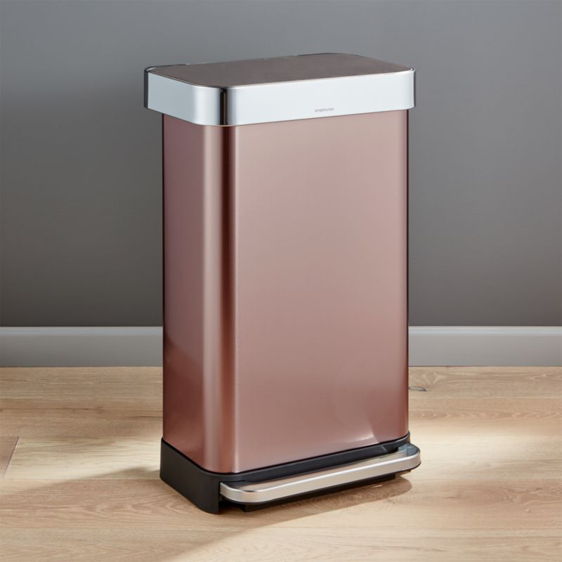 simplehuman 45liter12gallon Rose Gold Rectangular Step