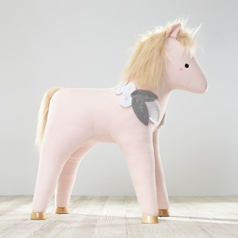 Plush Unicorn Ride On Toy  Reviews  Crate and Barrel