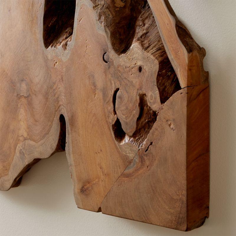 Slice Teak Wall Art Reviews Crate And Barrel