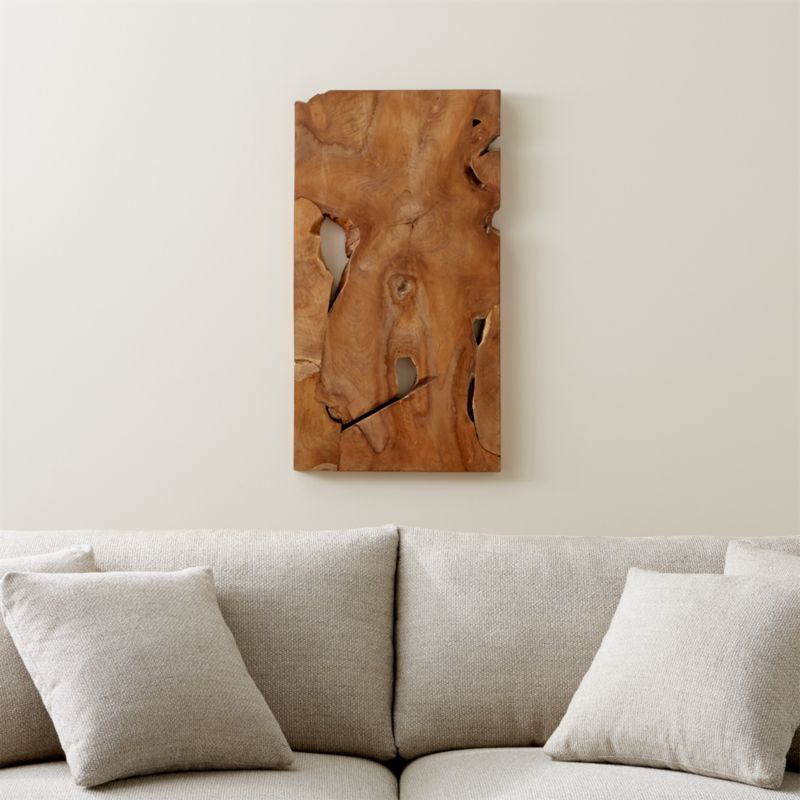 Slice Teak Wall Art In Wall Art Reviews Crate And Barrel