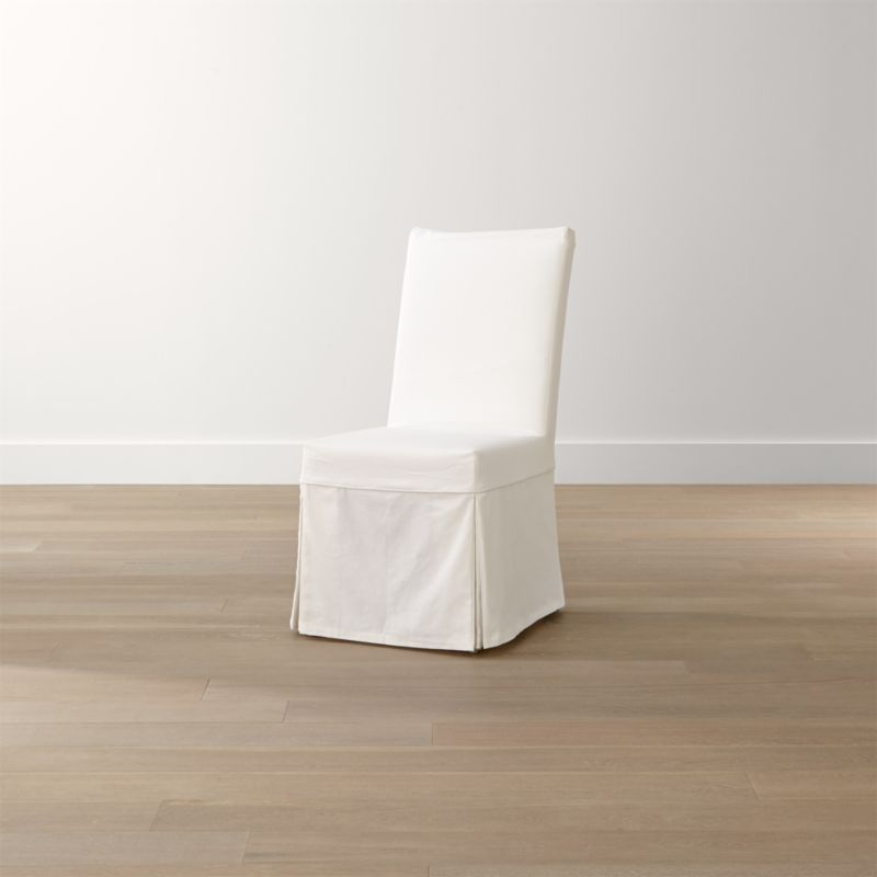 white slip covers for dining room chairs p pod chair slipcovered + reviews | crate and barrel