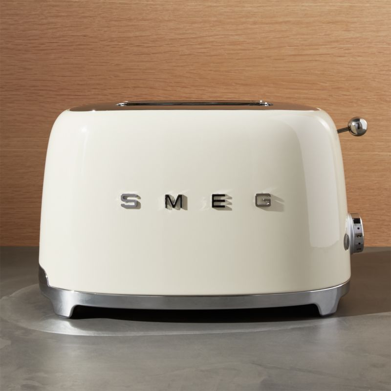 Smeg Cream 2Slice Retro Toaster  Reviews  Crate and Barrel